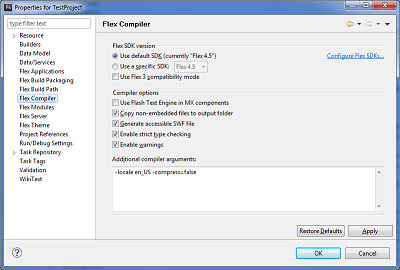 Using the compress compiler argument