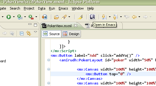 Emacs Plugin for Eclipse Toolbar and Menu